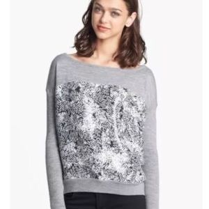 Diane von Furstenberg grey wool Gracie sweater M